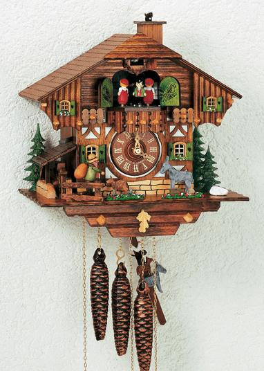 black forest fairy clock