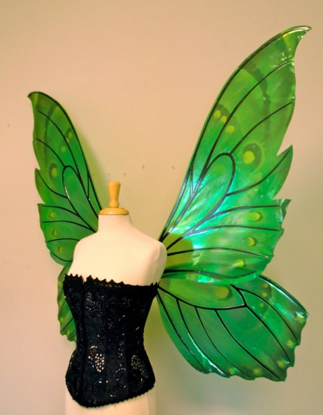 fairy wings in green