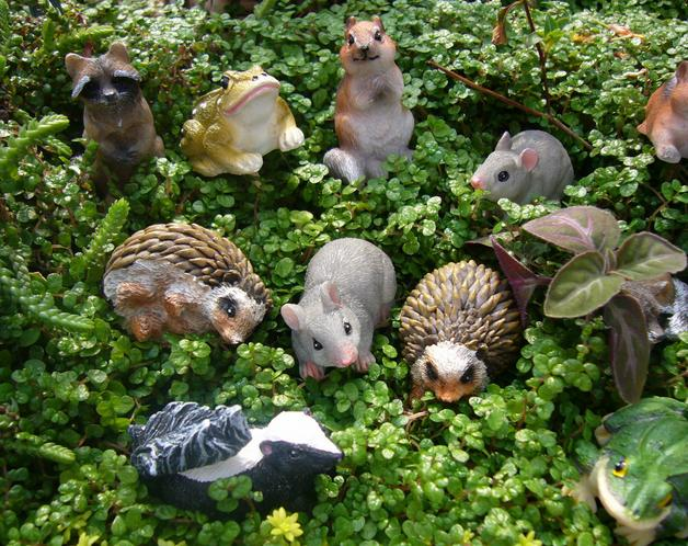 miniature animals for fairy garden - Garden Animals