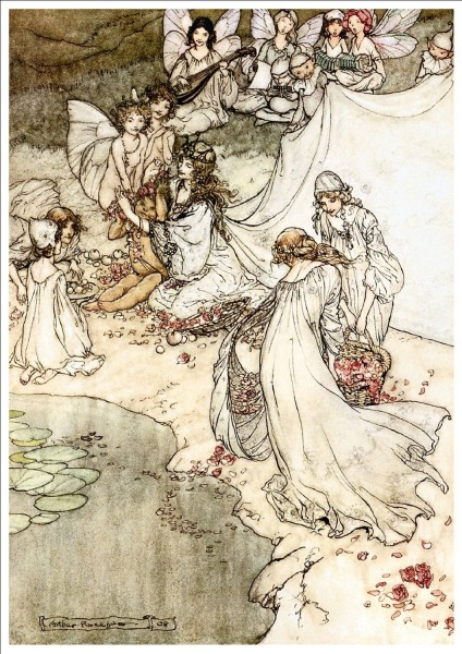 fairies wash fruit