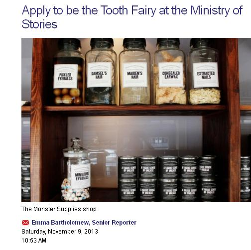 apply to be a tooth fairy