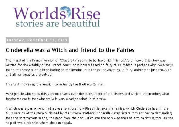 cinderella a witch and friend to fairies