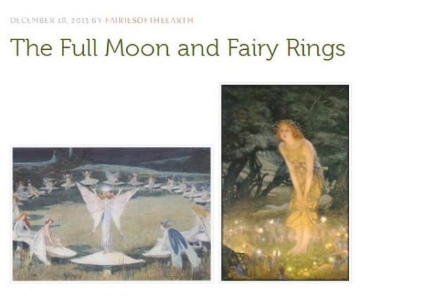 The full moon and fairy rings