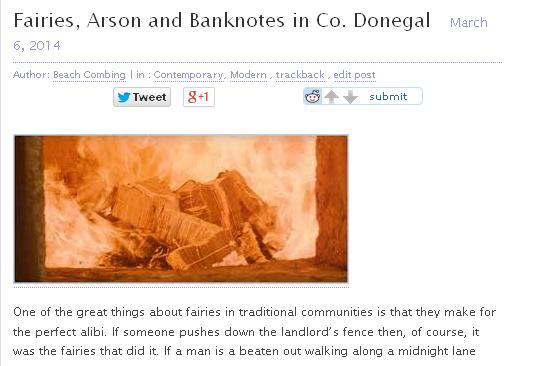 fairies arson and banknotes
