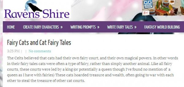 fairy cats and fairy tales