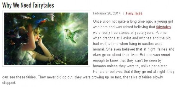 why we need fairytales