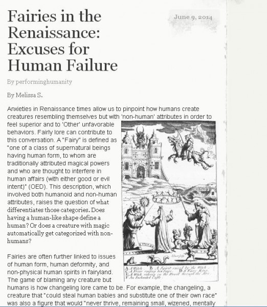 fairies in the renaissance human failure